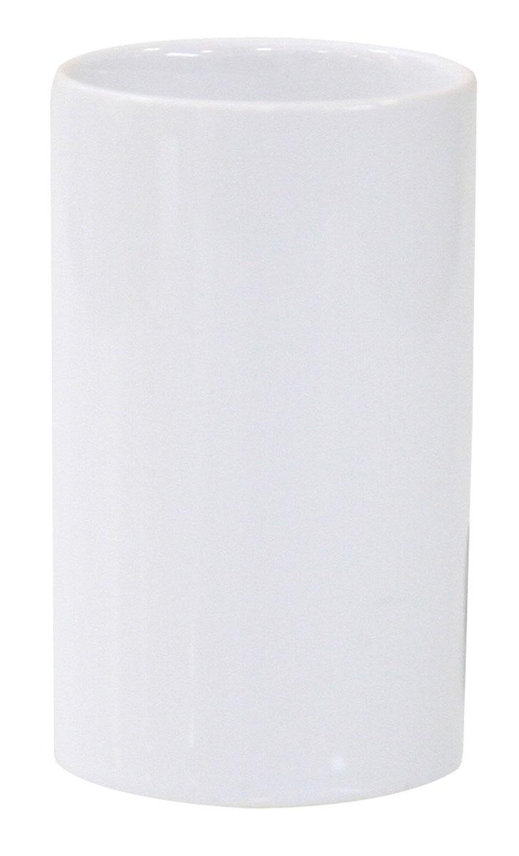 Стакан для зубных щеток Axentia Bianco, высота 11 см282455Стакан для зубных щеток Axentia Bianco изготовлен из натуральной и элегантной керамики белого цвета. Изделие превосходно дополнит интерьер ванной комнаты, отлично сочетается с другими аксессуарами из коллекции Bianco.Высота стакана: 11 см.Диаметр стакана (по верхнему краю): 6,5 см.