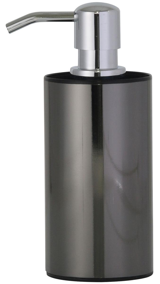 Дозатор для жидкого мыла Axentia Bologna, цвет: черный122393Дозатор для жидкого мыла Axentia Bologna органично дополнит ванную комнату, выдержанную в модном современном стиле с использованием черного декора. Основная функция аксессуара - удобное и экономичное расходование жидкого мыла. Лаконичная форма диспенсера отлично гармонирует с его матовой поверхностью черного цвета. Изготовлен из сатинированной нержавеющей стали черного цвета снаружи и черного полипропилена внутри.