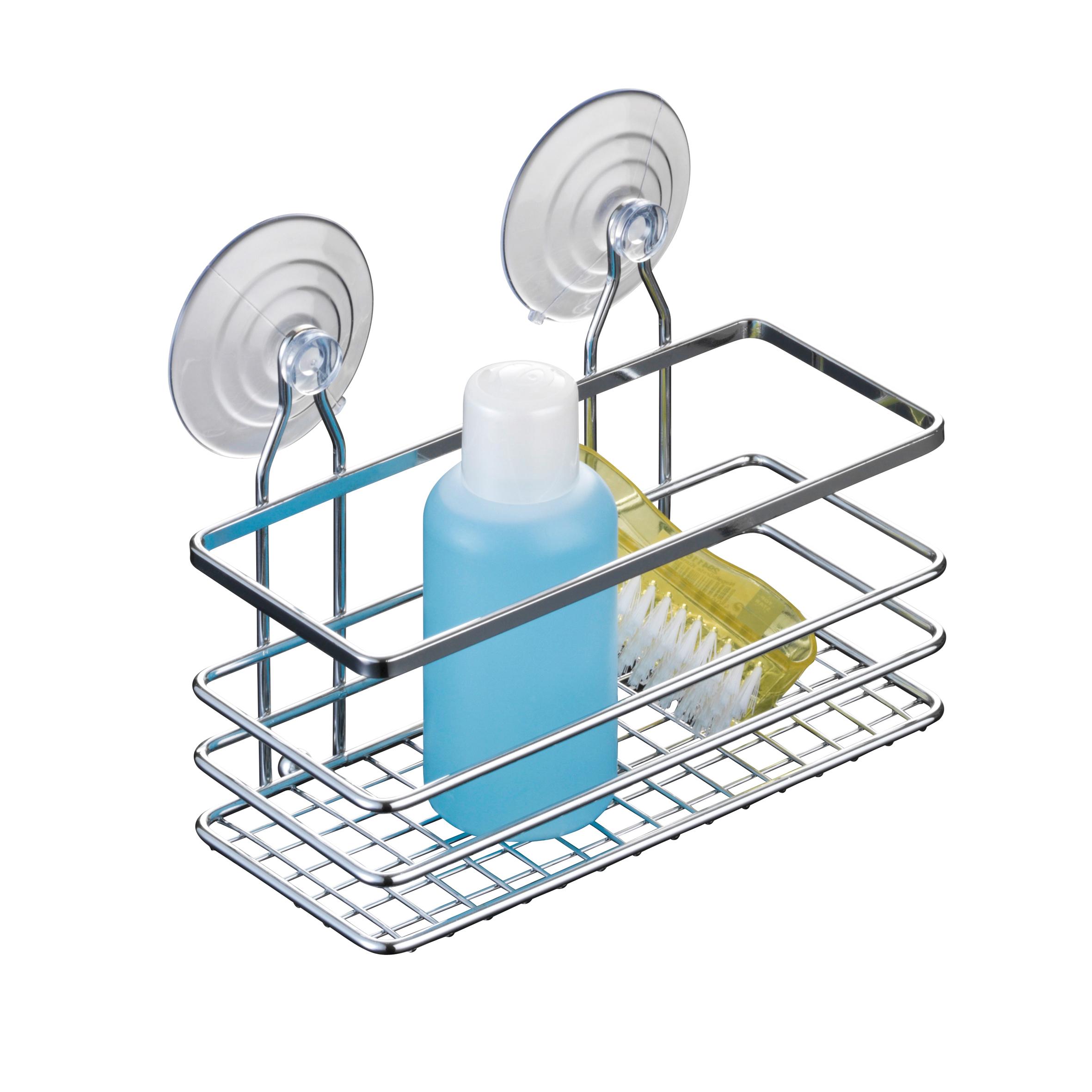 Полка для ванной Axentia Cassandra, прямая, одноярусная, цвет: хром, 19 х 8,5 х 13 см280865Полка для ванной Axentia Cassandra, настенная, одноярусная, изготовлена из стали с качественным хромированным покрытием, которое на долго защитит изделие от ржавчины в условиях высокой влажности в ванной комнате. Два вида крепления: на 2-х присосках или на шурупах, в комплекте.Размер: 19 х 8,5 х 13 см