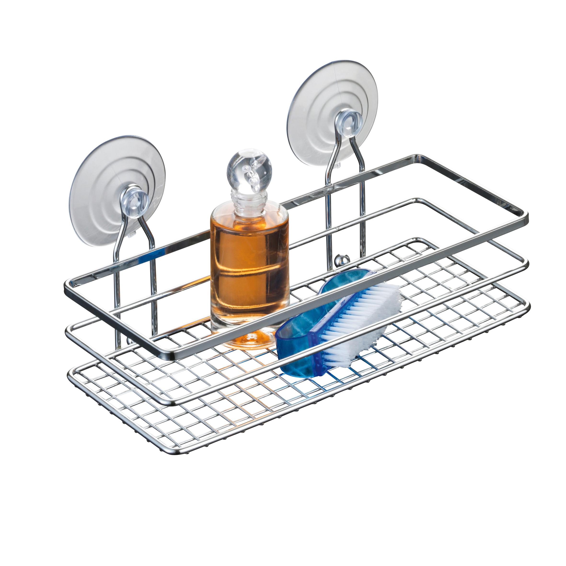 Полка для ванной Axentia Cassandra, настенная, одноярусная, 25 х 11 х 9,5 см280866Одноярусная настенная полка для ванной Axentia Cassandra изготовлена из высококачественной хромированной стали, устойчивой к коррозии в условиях высокой влажности в ванной комнате. Изделие крепится к стене на шурупах или присосках (входят в комплект). Классический дизайн и оптимальная вместимость подойдет для любого интерьера ванной комнаты.