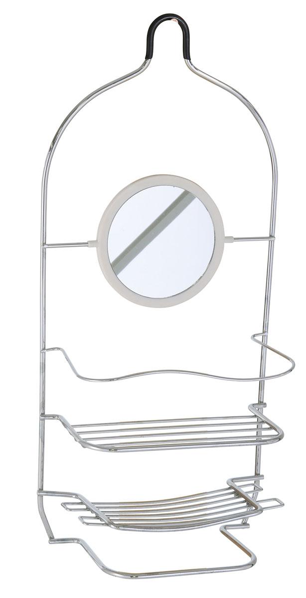 Полка для ванной Axentia, прямая, двухъярусная, с зеркалом и полотенцедержателем, цвет: хром, 20,5 х 10,7 х 45,5 см122450Прямая двухъярусная полка для ванной комнаты Axentia имеет зеркало и полотенцедержатель. Она изготовлена из стали с качественным хромированным покрытием, которое на долго защитит изделие от ржавчины в условиях высокой влажности в ванной комнате.Размер: 20,5 х 10,7 х 45,5 см.
