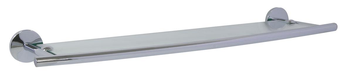 Полка для ванной Axentia Capri, настенная, 58,5 х 15,8 см122437Навесная настенная полка для ванной Axentia Capri изготовлена из матового стекла и стали с качественным хромированным покрытием, которое на долго защитит изделие от ржавчины в условиях высокой влажности в ванной комнате. Изделие крепится на шурупах (входят в комплект). Классический дизайн и оптимальная вместимость подойдет для любого интерьера ванной комнаты.
