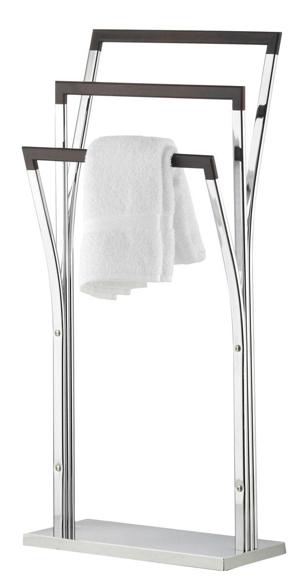 """Вешалка для полотенец Axentia """"Nobless"""", напольная, с 3 планками, 38 х 21 х 90 см"""