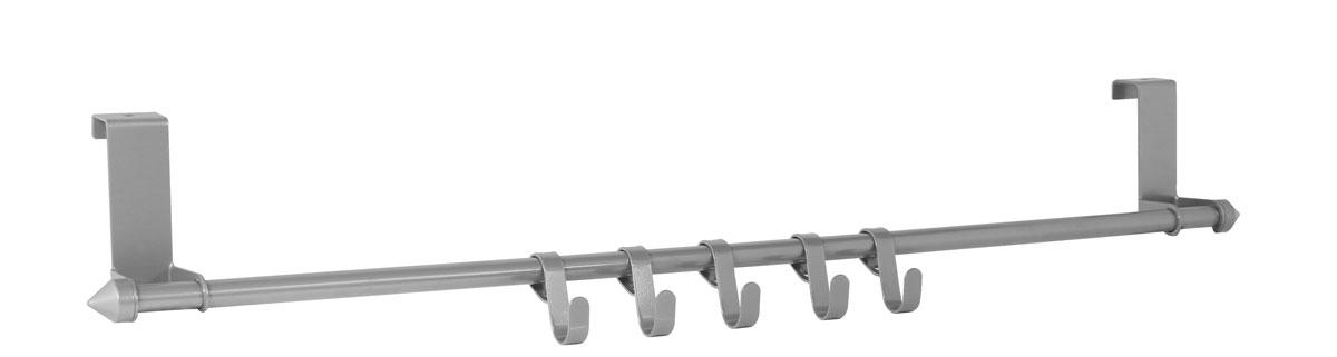 Вешалка на мебельную дверцу Axentia, с 5 крючками, 57 х 5 х 8 см116731Вешалка на мебельную дверцу Axentia, изготовленная из высококачественной хромированной стали, устойчивой к коррозии, оснащена 5 крючками. Подойдет для дверцы различных шкафов, тумб, сервантов, комодов, в ванной, прихожей, гостиной или спальной. Крепиться как на внутреннюю, так и на внешнюю сторону. Ширина крепления: 2 см.Размер вешалки: 57 х 5 х 8 см.Выдерживает общий вес: 7,5 кг.