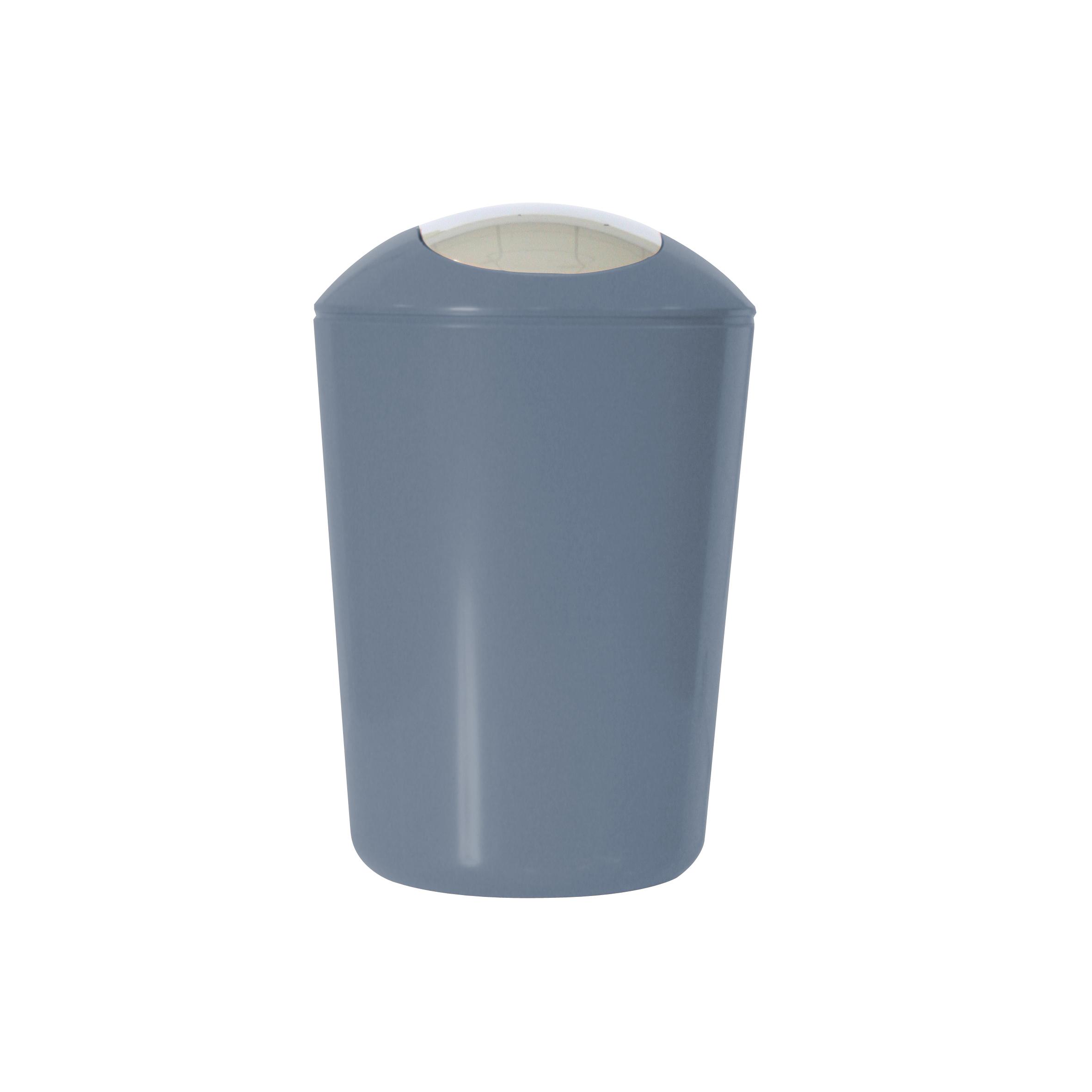 Ведро для мусора Axentia, с крышкой, цвет: серый, хром, 5 л251080Глянцевое ведро для мусора Axentia, выполненное из высококачественного износостойкого пластика, оснащено хромированную крышку типа «качели». Подходит для использования в ванной комнате или на кухне. Стильный дизайн и яркая расцветка прекрасно подойдет для любого интерьера ванной комнаты или кухни. Размер ведра: 20 х 20 х 30 см.Объем ведра: 5 л.