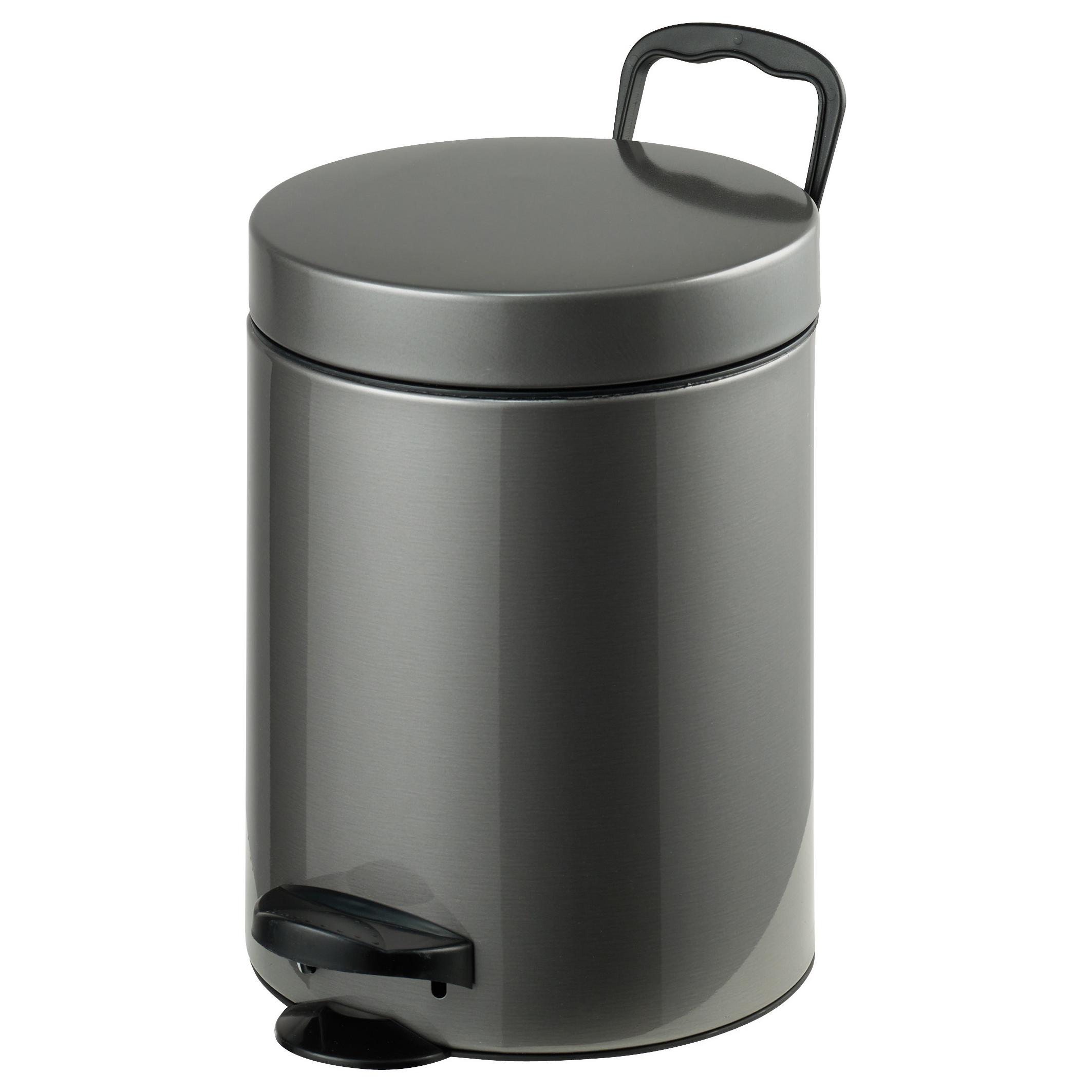 Ведро для мусора Axentia, с педалью, 5 л116933Ведро для мусора Axentia изготовлено из нержавеющей стали. Изделие оснащено крышкой, ручкой для переноски и педалью для более удобного использования. Такое ведро пригодится для мелкого мусора, а также прекрасно впишется в интерьер ванной комнаты.