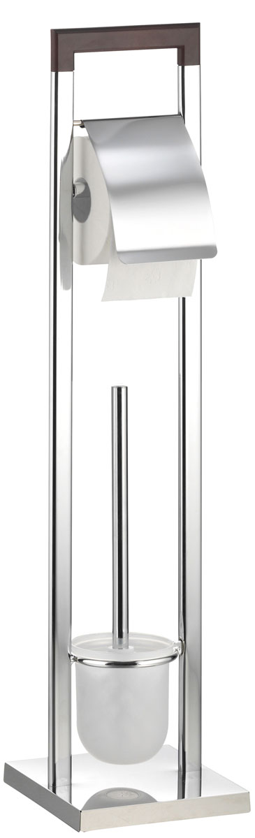 Гарнитур для туалета Axentia  Nobless , с держателем для бумаги, 18 х 18 х 75 см - Аксессуары для туалетной комнаты
