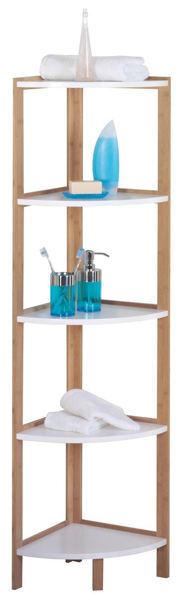 Стеллаж для ванной Axentia Bonja, угловой, 5 полок, цвет: бук, серебристый, 32 х 32 х 138 см122105Стеллаж для ванной комнаты угловой высокий, имеет 5 полок из водостойкого МДФ и каркас из натурального бамбука. Высота 138 см. Угловая конструкция позволяет занять минимум места в ванной комнате, и оставаться максимально полезным и вместительным.Коллекция стильной и экологичной мебели для ванной комнаты Axentia Bonja, сочетает в себе элементы натурального бамбука и водостойкого МДФ, придаст вашей ванной комнате ощущение свежести, натурального декора и не оставит равнодушными ваших гостей. Надежная конструкция и качественные материалы позволят наслаждается покупкой долгие годы. Поставляется в фирменной картонной упаковке с инструкцией по сборке на русском языке. Все необходимые для сборки детали в комплекте.