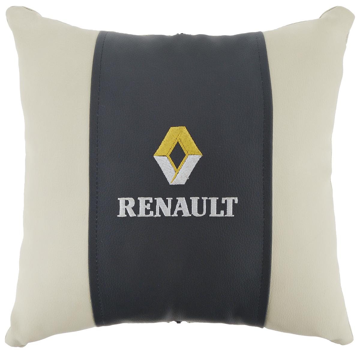 Подушка на сиденье Autoparts Renault, 30 х 30 смМ053Подушка на сиденье Autoparts Renault создана для тех, кто весь свой день вынужден проводить за рулем. Чехол выполнен из высококачественной дышащей экокожи. Наполнителем служит холлофайбер. На задней части подушки имеется змейка.Особенности подушки:- Хорошо проветривается.- Предупреждает потение.- Поддерживает комфортную температуру.- Обминается по форме тела.- Улучшает кровообращение.- Исключает затечные явления.- Предупреждает развитие заболеваний, связанных с сидячим образом жизни. Подушка также будет полезна и дома - при работе за компьютером, школьникам - при выполнении домашних работ, да и в любимом кресле перед телевизором.