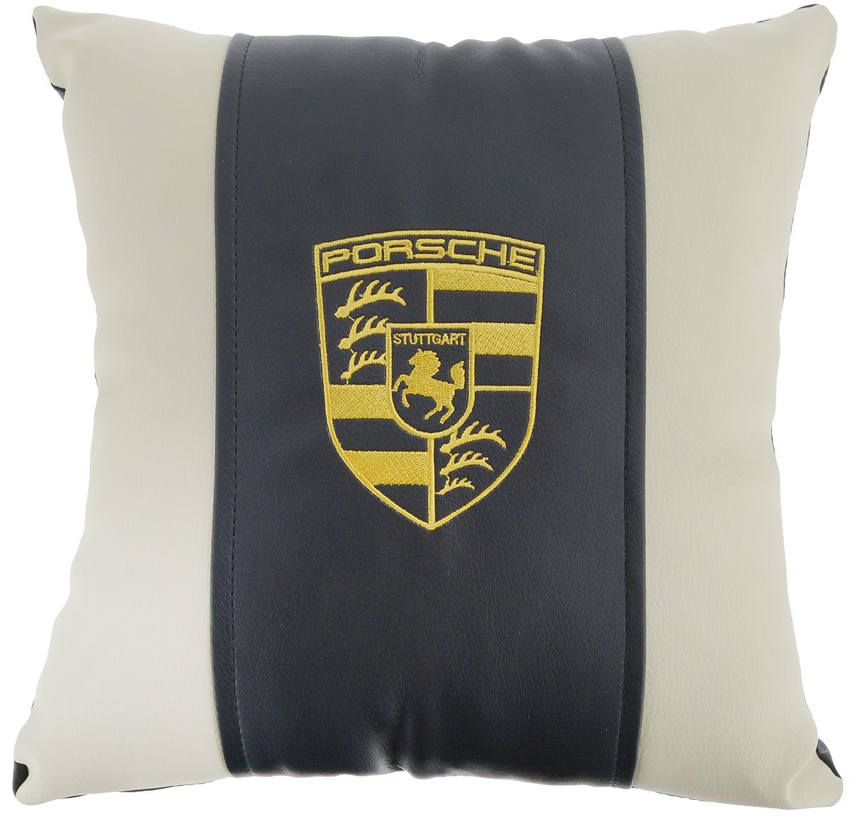 """Подушка на сиденье Autoparts """"Porsche"""", 30 х 30 см"""