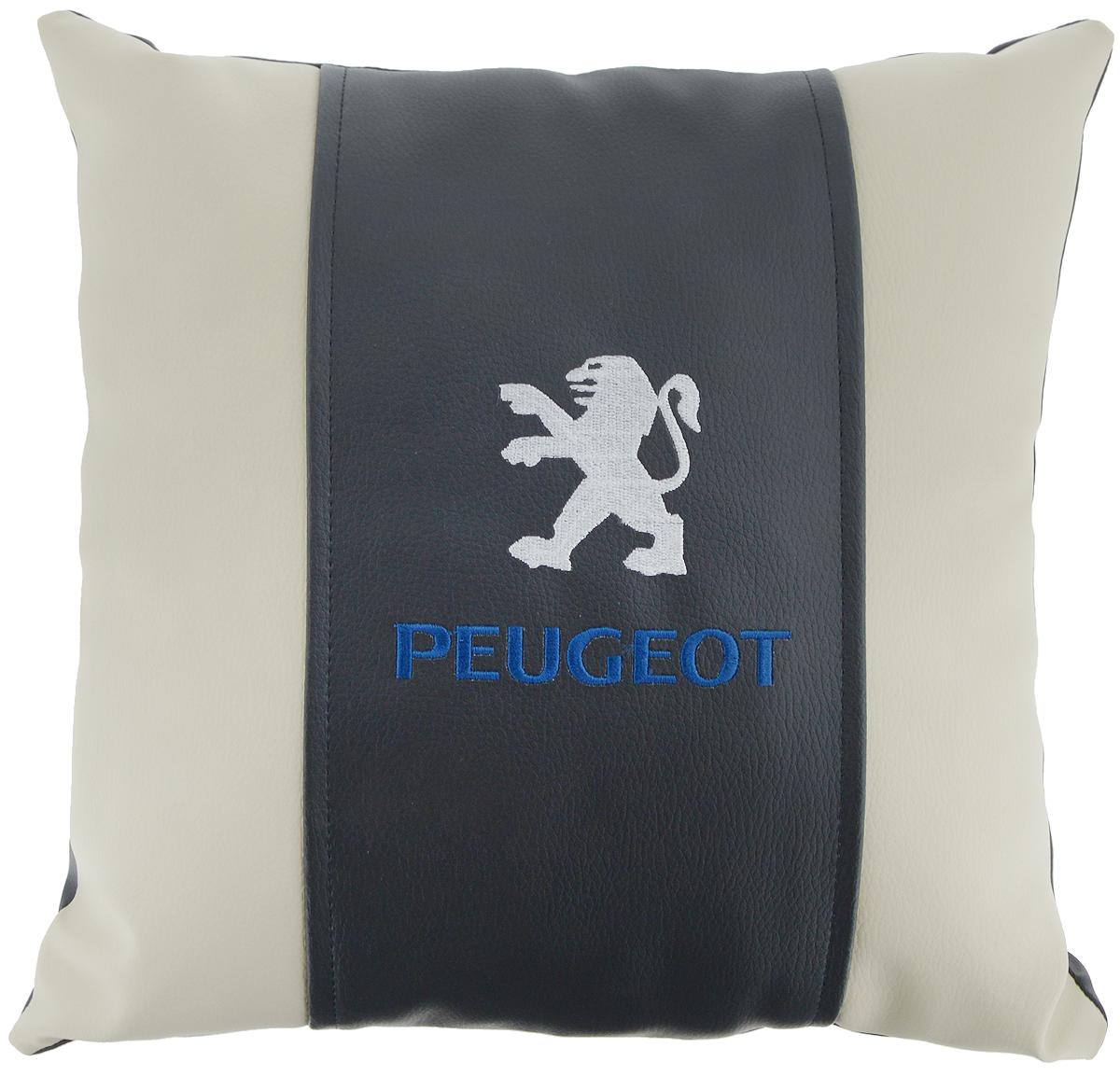 """Подушка на сиденье Autoparts """"Peugeot"""", 30 х 30 см"""