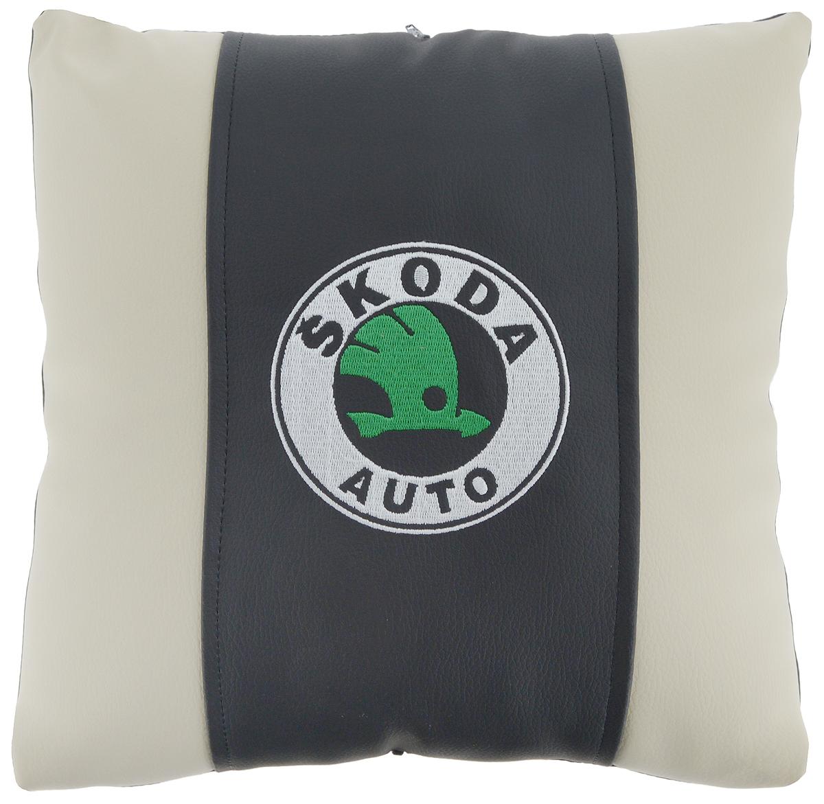 """Подушка на сиденье Autoparts """"Skoda"""", 30 х 30 см"""