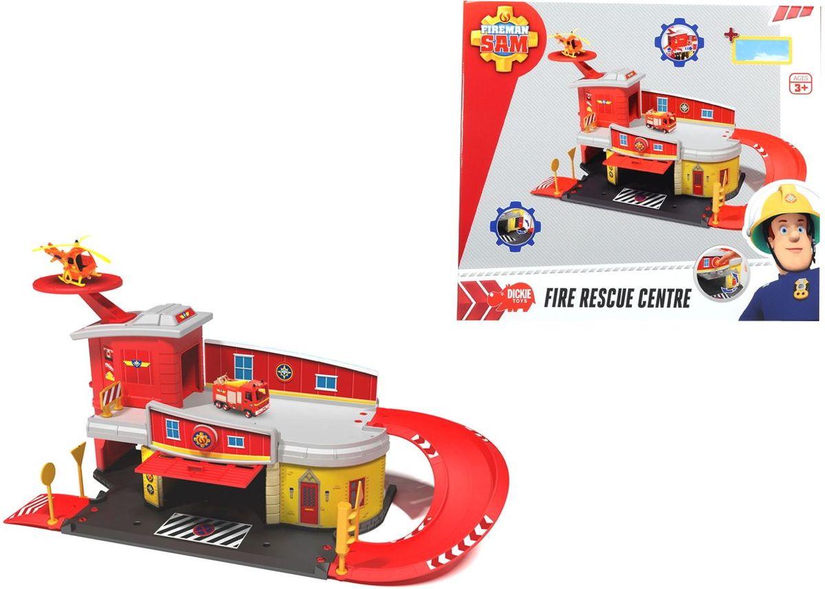 Dickie Toys Пожарный Сэм Пожарный гараж viking toys пожарная машина джамбо 28 см