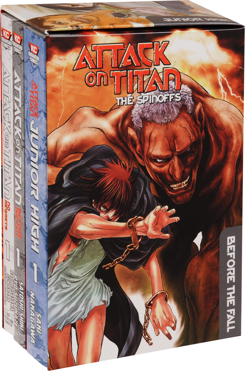 Attack on Titan: The Spinoffs (комплект из 3 книг) attack on titan end of the world