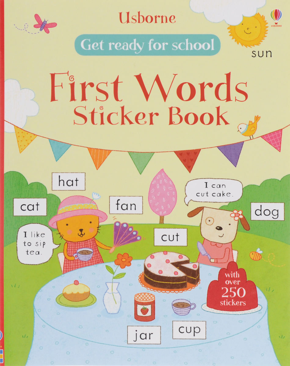 Get Ready for School: First Words Sticker Book roger priddy let s get ready for school simple maths маркер
