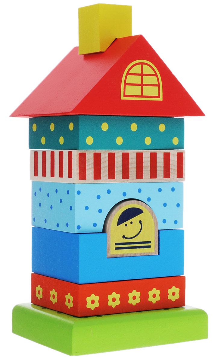 Alatoys Пирамидка Домик 8 элементов деревянные игрушки alatoys