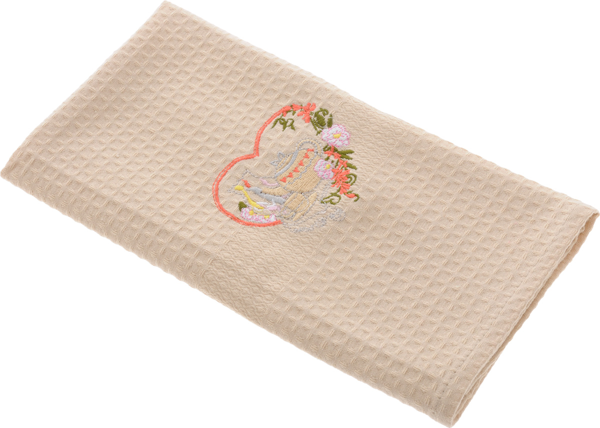Полотенце кухонное Soavita, 40 х 60 см. 4880248802Кухонное полотенце Soavita, выполненное из 100% хлопка, оформлено вышитым рисунком в виде красивой композиции. Изделие предназначено для использования на кухне и в столовой.Такое полотенце станет отличным вариантом для практичной и современной хозяйки.Рекомендуется стирка при температуре 40°C.