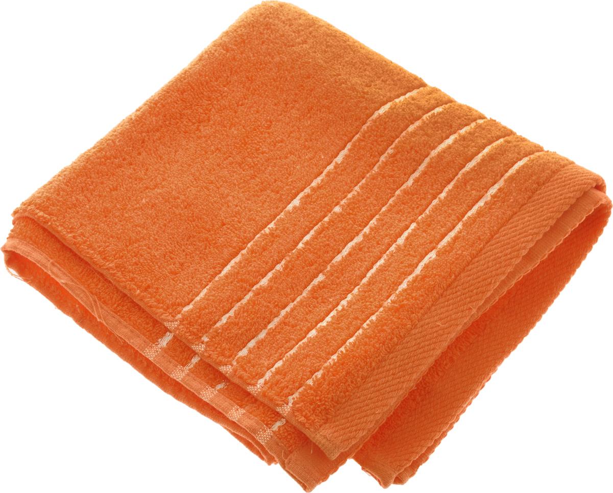 Полотенце Soavita Olivia, цвет: оранжевый, 50 х 90 см64009Полотенце Soavita Olivia выполнено из 100% хлопка. Изделие отлично впитывает влагу, быстро сохнет, сохраняет яркость цвета и не теряет форму даже после многократных стирок. Полотенце очень практично и неприхотливо в уходе. Оно создаст прекрасное настроение и украсит интерьер в ванной комнате.Рекомендуется стирка при температуре 40°C.