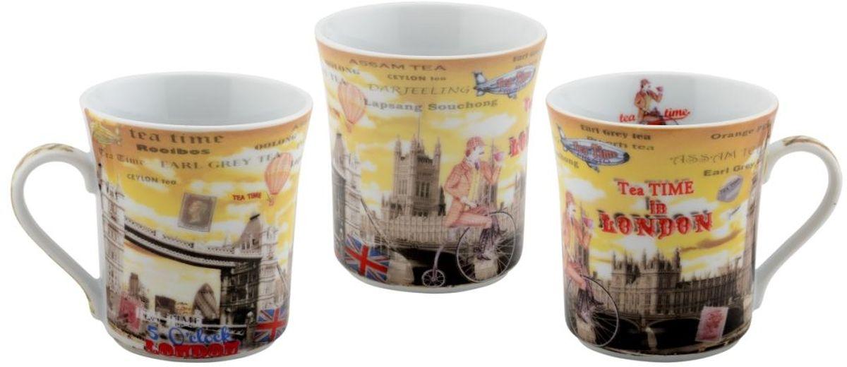 Набор кружек GiftnHome, 300 мл, 3 штMUG Teatime 6Набор GiftnHome состоит из 3 кружек, выполненных из высококачественного глазурованного фарфора. Изделия декорированы изысканными рисунками. Такой набор станет изящным украшением стола к чаепитию и согреет вас вашим любимым напитком. Отличный подарок к любому случаю.