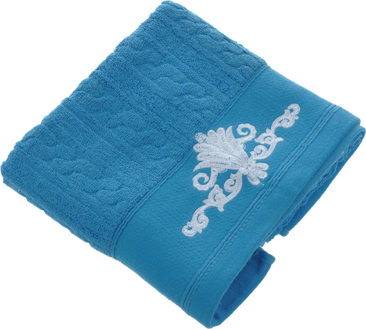 Полотенце Soavita Paolo, цвет: светло-синий, 50 х 90 см64058Махровое полотенце Soavita Paolo выполнено из 100% хлопка. Изделие отлично впитывает влагу, быстро сохнет, сохраняет яркость цвета и не теряет форму даже после многократных стирок. Полотенце очень практично и неприхотливо в уходе. Оно создаст прекрасное настроение и украсит интерьер в ванной комнате.Рекомендуется стирка при температуре 40°C.