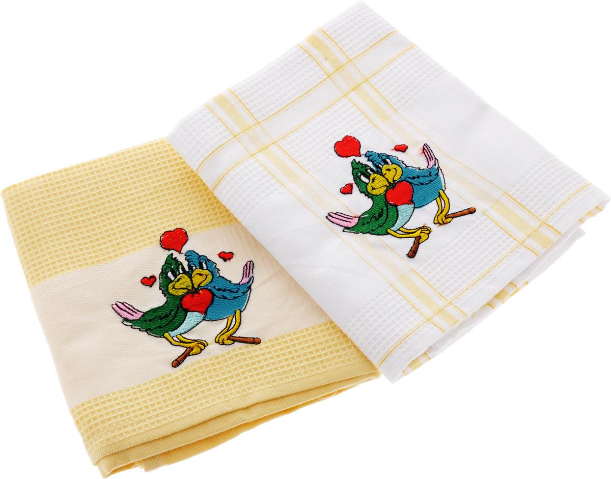 Набор кухонных полотенец Soavita Подарочное, цвет: желтый, белый, 43 х 68 см, 2 шт. 4548945489Набор Soavita Подарочное состоит из двух полотенец, выполненных из 100% хлопка. Изделия предназначены для использования на кухне и в столовой.Набор полотенец Soavita Подарочное - отличное приобретение для каждой хозяйки.Комплектация: 2 шт.