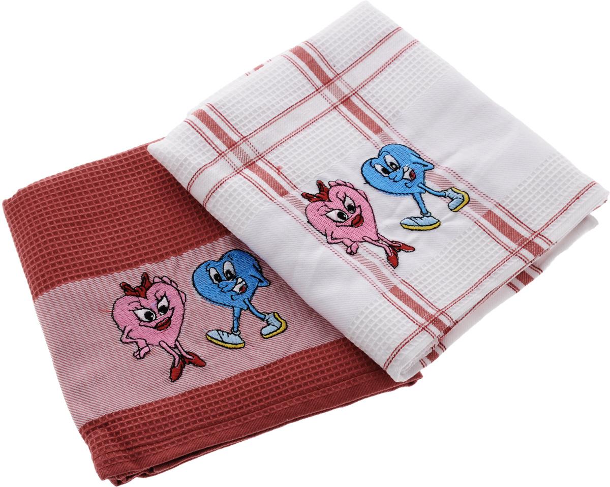 Набор кухонных полотенец Soavita Подарочное, цвет: белый, красный, 43 х 68 см, 2 шт. 4548745487Набор Soavita Подарочное состоит из двух полотенец, выполненных из 100% хлопка. Изделия предназначены для использования на кухне и в столовой.Набор полотенец Soavita Подарочное - отличное приобретение для каждой хозяйки.Комплектация: 2 шт.
