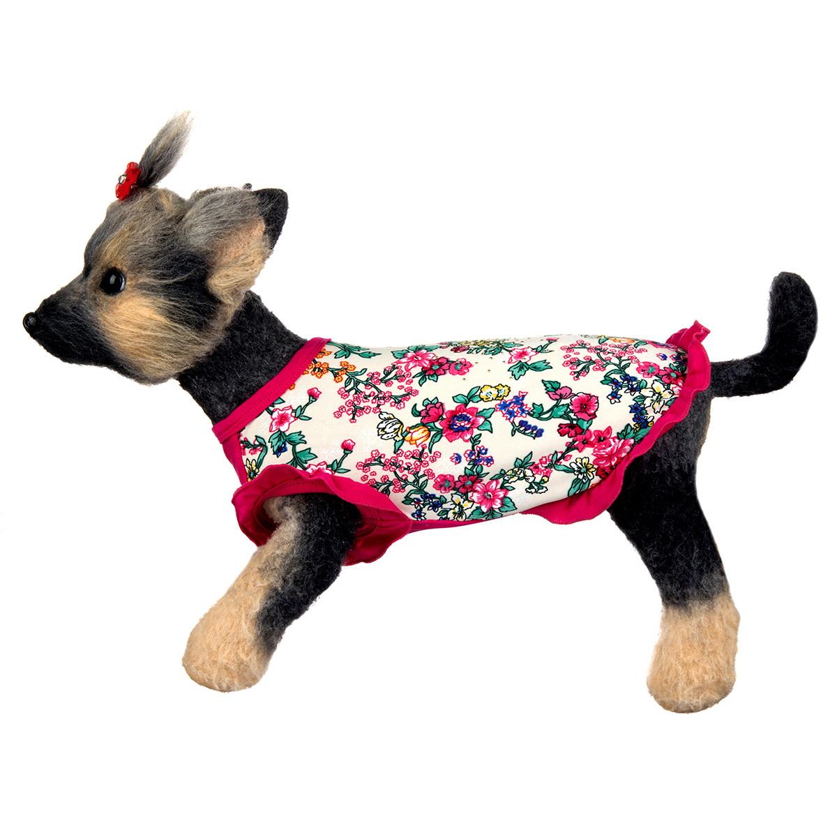 Майка для собак Dogmoda Оливия, для девочки. Размер 3 (L) догмода футболка с капюшоном для собак dogmoda 1