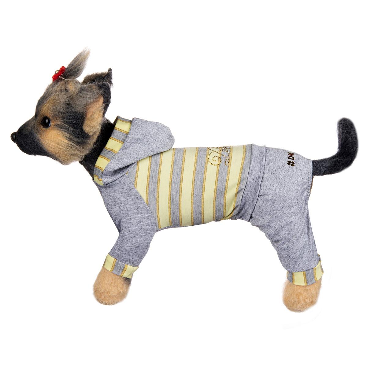 "Комбинезон для собак Dogmoda ""Грей"", унисекс, цвет: серый, желтый. Размер 4 (XL)"