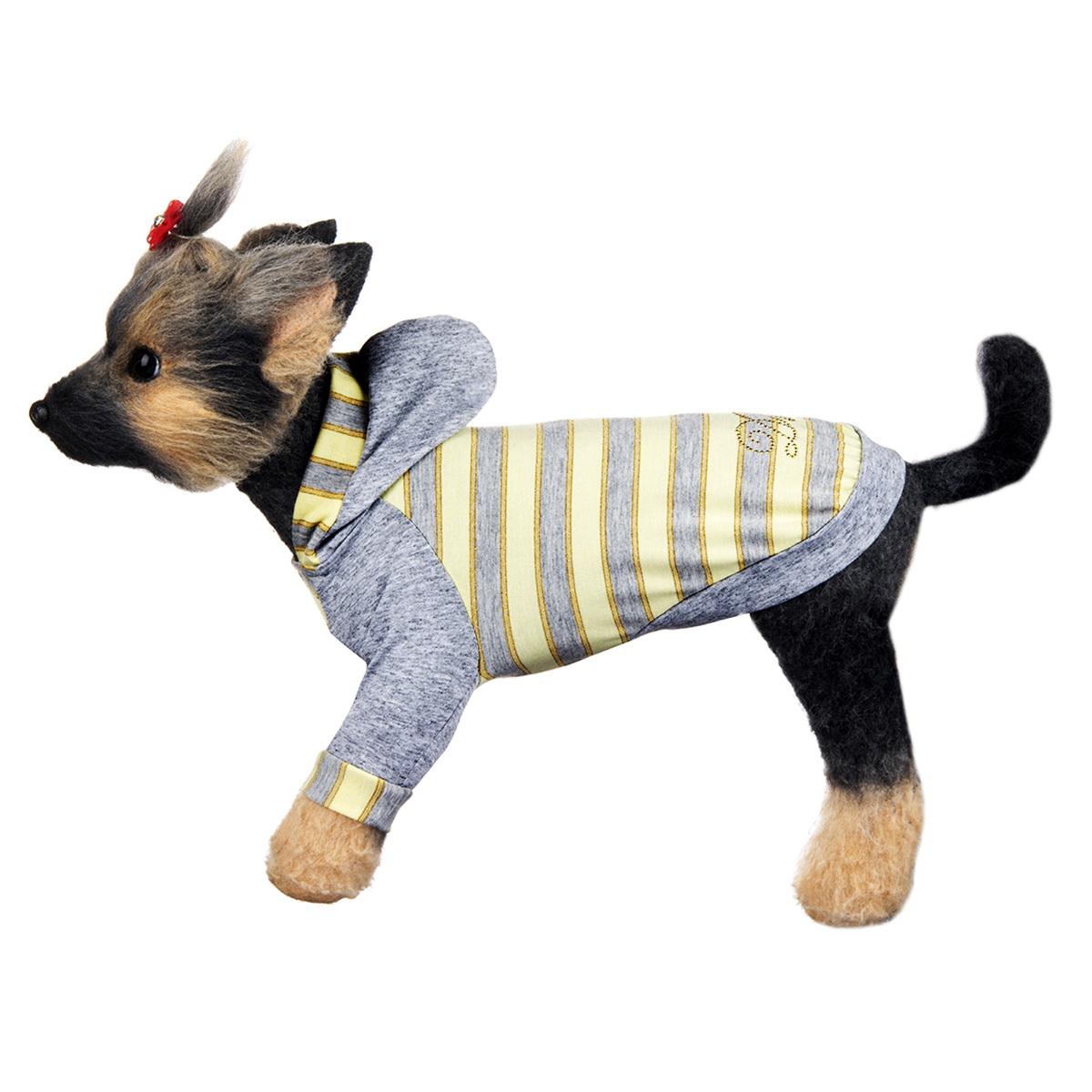 Футболка для собак Dogmoda Грей, унисекс. Размер 2 (M) догмода футболка с капюшоном для собак dogmoda 1