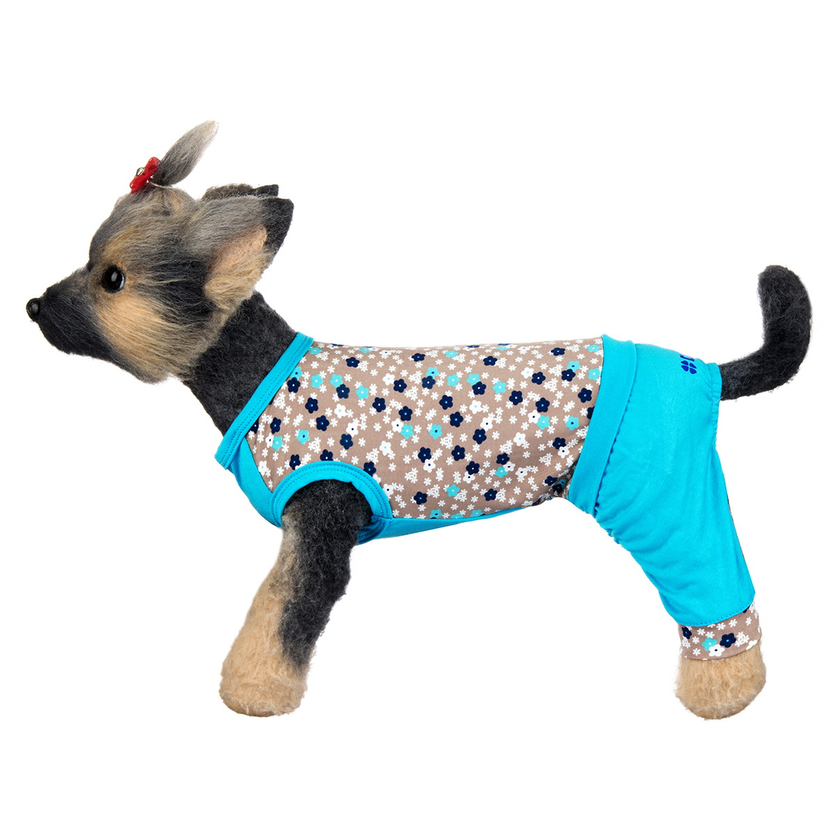 "Комбинезон для собак Dogmoda ""Алекс"", унисекс, цвет: голубой, серый. Размер 4 (XL)"