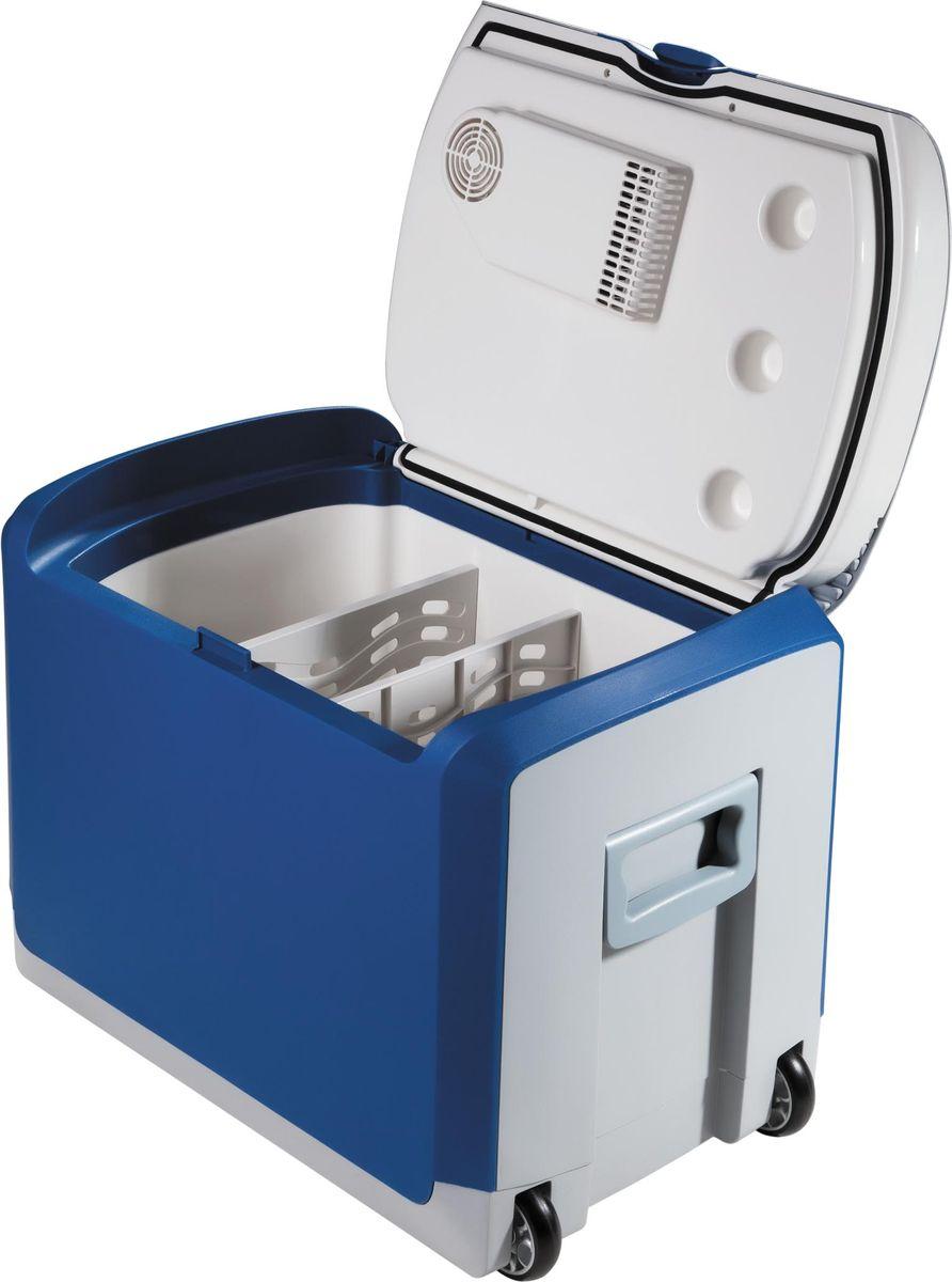 """Переносной термоэлектрический холодильник-подогреватель """"Piece Of Mind"""" - это надежное и универсальное средство для транспортировки и хранения продуктов. Во включенном в сеть состоянии изделие поддерживает температуру в камере на 18°С-25°С ниже, чем температура окружающего воздуха. Модель может использоваться как разогреватель пищи, обеспечивая подогрев продуктов в камере до 50°С-65°С. Подключается к бытовой сети через адаптер (приобретается отдельно) или от бортовой сети автомобиля. Мощность: 48/41 Вт."""