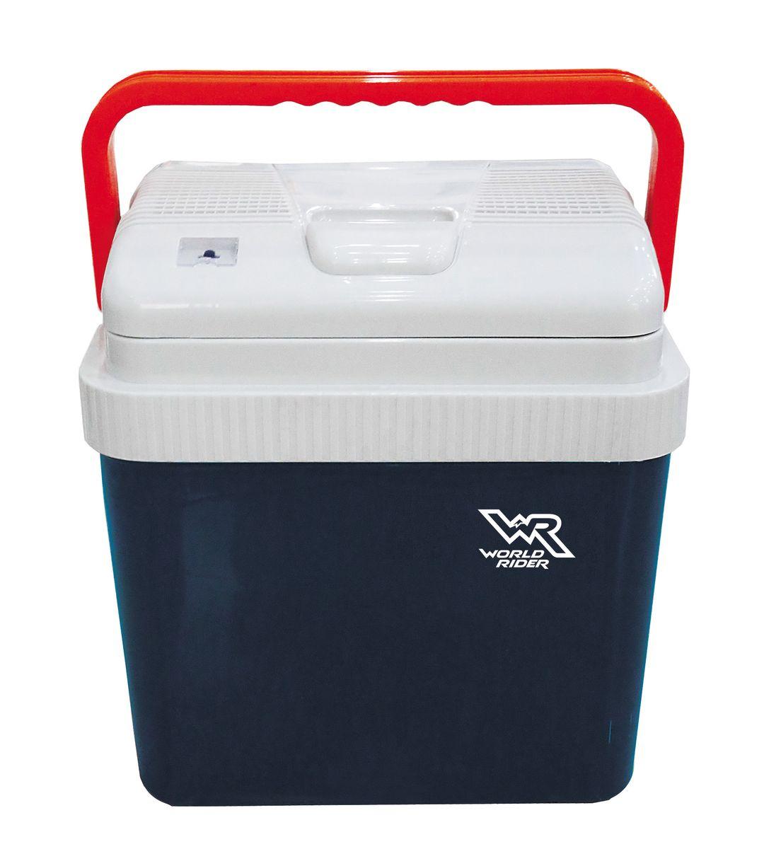 Автомобильный холодильник World Rider, 24 л. WR 6514WR 6514Сохраняет продукты в свежем состоянии. Обеспечивает разницу температур 18–20 °С по отношению к температуре окружающей среды в режиме охлаждения и 50 °С в режиме нагрева. Идеально подходит для поездки на дачу и на пикник.Высокая термоизоляция. Индикатор режима работы. Стильный дизайн, удобная ручка. Долговечный бесколлекторный мотор. Объем: 24 л Вес: 5,4 кг Габаритные размеры: 0,4х0,3х0,44 мНапряжение: DC 12 ВПотребляемая мощность: 48 Вт в режиме охлаждения, 45 Вт в режиме нагрева