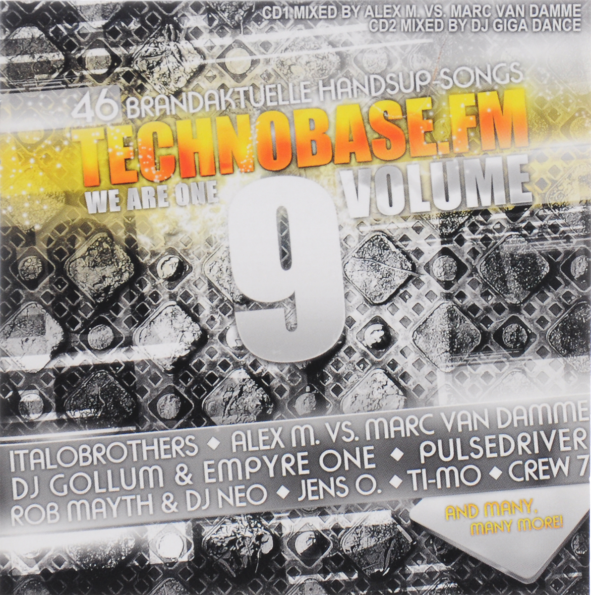 Technobase.Fm. Volume 9. Mixed By Alex M. Vs. Marc Van Damme, Dj Gigadance (2 CD)