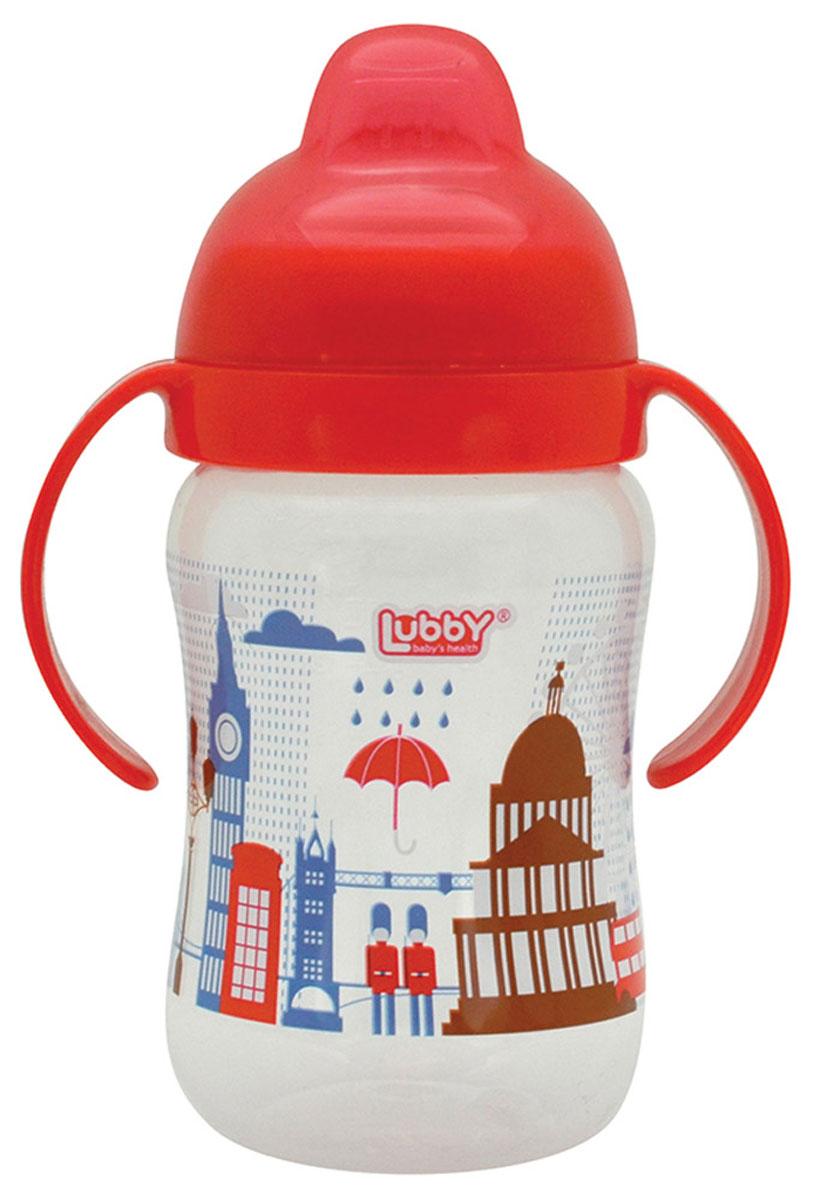 Lubby Поильник-непроливайка Любимый от 6 месяцев цвет красный 250 мл