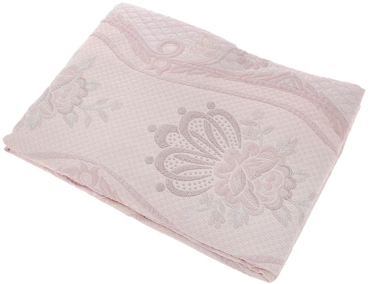 Покрывало Arya Tay-Pen, цвет: розовый, белый, коричневый, 170 х 240 см. 1062_Design 401062_Design 40Покрывало Arya Tay-Pen прекрасно оформит интерьер спальни или гостиной. Изделие изготовлено из 100% полиэстера. Жаккардовые покрывала уникальны, так как они практичны и универсальны в использовании. Жаккардовые ткани хорошо сохраняют окраску, слабо подвержены влиянию перепадов температур. Своеобразный рельефный рисунок, который получается в результате сложного переплетения на плотной ткани, напоминает гобелен.Изделие долговечно, надежно и легко стирается. Покрывало Arya Tay-Pen не только подарит тепло, но и гармонично впишется в интерьер вашего дома.
