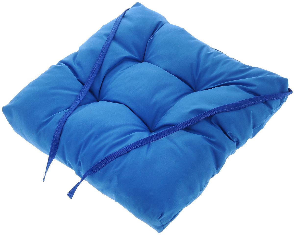 Подушка на стул Eva, объемная, цвет: синий, 40 х 40 смЕ064_синийПодушка Eva, изготовленная из хлопка, прослужит вам не один десяток лет. Внутри - мягкий наполнитель из полиэстера. Стежка надежно удерживает наполнитель внутри ине позволяет ему скатываться. Подушка легко крепится на стул с помощью завязок. Правильно сидеть - значит сохранить здоровье на долгие годы. Жесткие сидения подвергаютнаше здоровье опасности. Подушка с наполнителем из полиэстера поможет предотвратитьмногие беды, которыми грозит сидячий образ жизни.