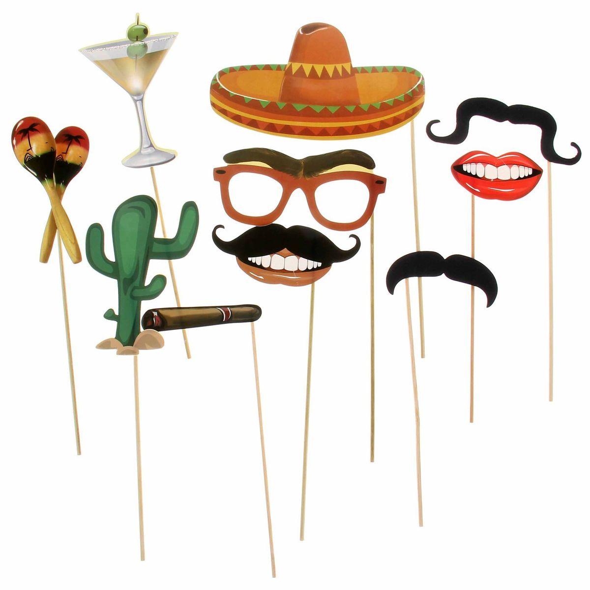 Набор фотобутафории Sima-land Мексиканская вечеринка, 10 предметов sima land мебель для кукол гостиная 11 предметов 730418