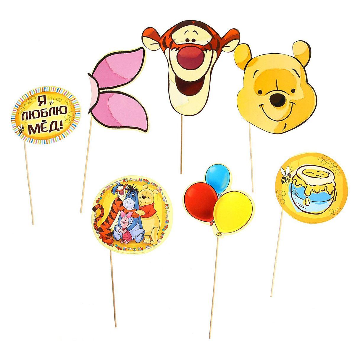 Набор фотобутафории Disney Медвежонок Винни и его друзья, 7 предметов фотоальбомы disney памятный набор для новорождённых
