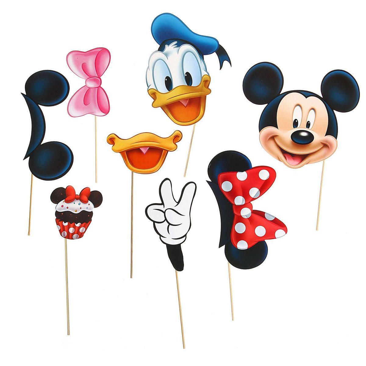 Набор фотобутафории Disney Микки Маус и друзья, 8 предметов фигурки disney traditions фигурка микки и минни маус с колокольчиками с рождеством