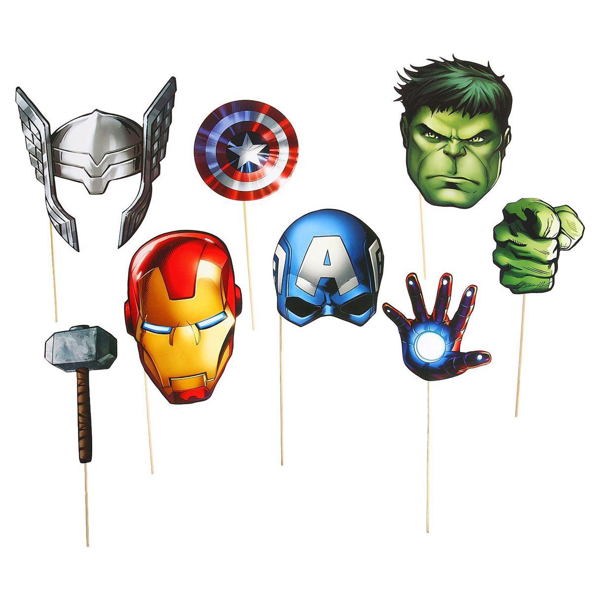 Набор фотобутафории Marvel Мстители, 8 предметов набор кухонный marvel rose wood 8 предметов