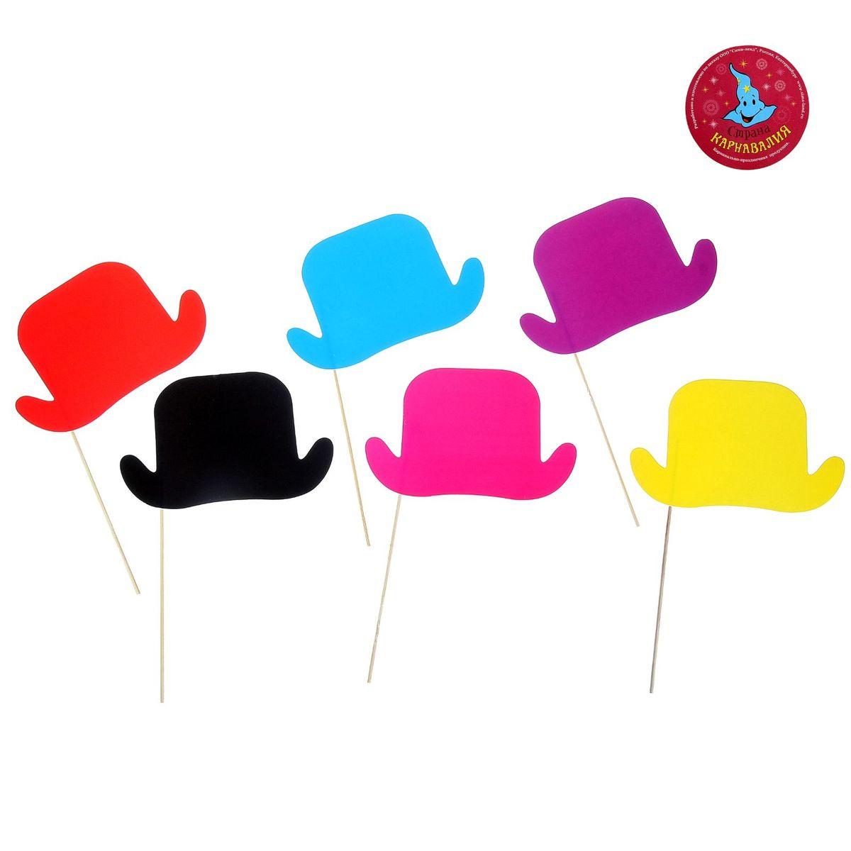 Аксессуары для фотосессии на палочке Страна Карнавалия Шляпка, 6 предметов аксессуары на шевроле ниву