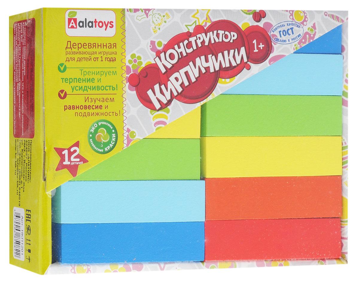 Alatoys Конструктор Кирпичики НКП1201 деревянные игрушки alatoys