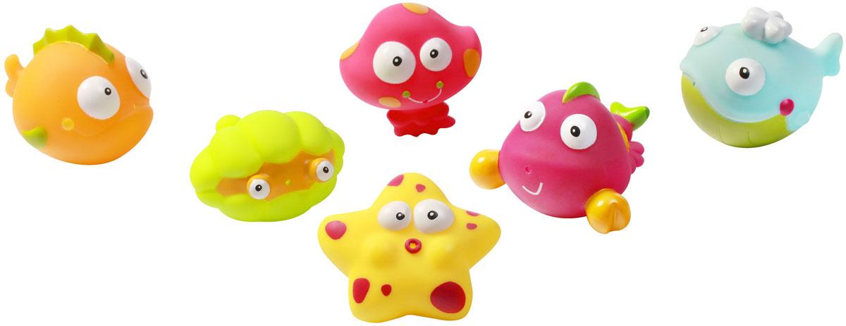 BabyOno Набор игрушек для ванной Подводный мир Океан 6 шт