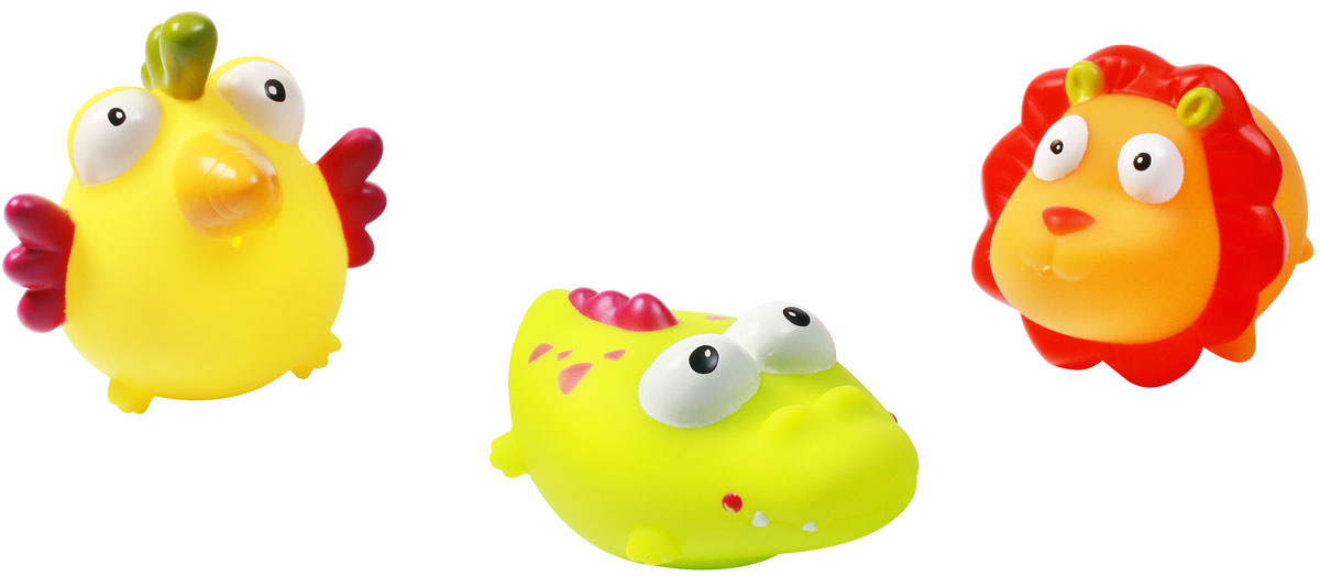 BabyOno Набор игрушек для ванной Джунгли 3 шт игрушки для ванной alex игрушки для ванны джунгли