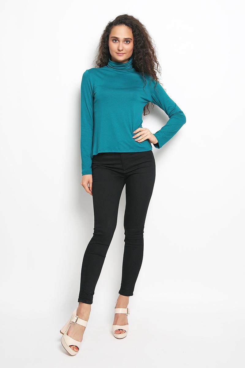 Водолазка женская Rocawear, цвет: темно-бирюзовый. R041524. Размер XS (42)R041524Женская водолазка Rocawear выполнена из мягкой эластичной вискозы. Материал изделия тактильно приятный, не сковывает движения и хорошо вентилируется. Водолазка с воротником-гольф и длинными рукавами имеет слегка приталенный силуэт.Модель идеально подойдет для повседневной носки и обеспечит комфорт и удобство в течение всего дня.