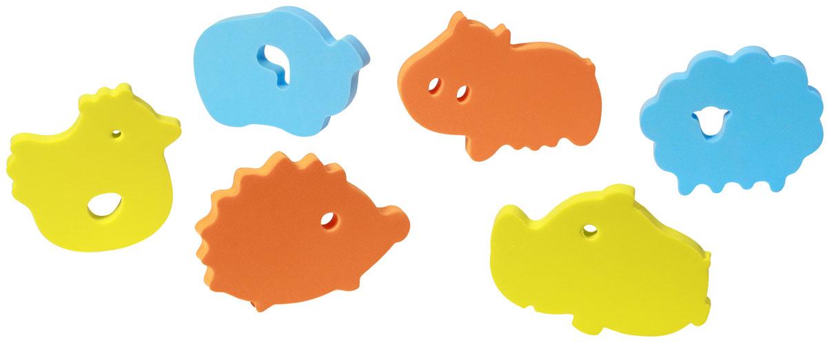 BabyOno Пазл для малышей цвет голубой оранжевый желтый термометры для воды babyono жираф желтый