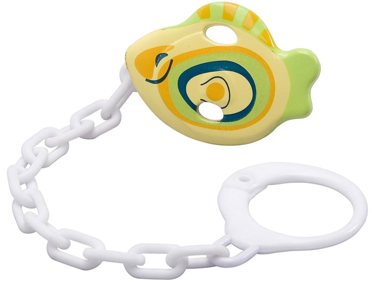 BabyOno Клипса-держатель для пустышки Рыбка babyono клипса держатель для пустышки коровка цвет бежевый