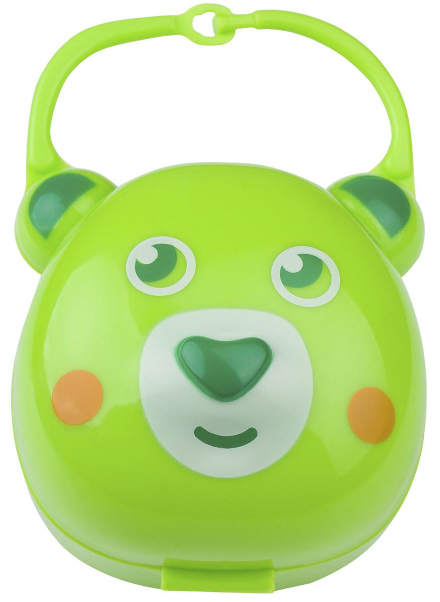 BabyOno Футляр для пустышки Мишка цвет салатовый ночники babyono ночник с колыбельными baby мишка