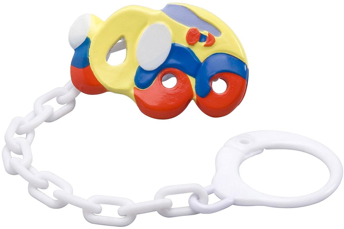 BabyOno Клипса-держатель для пустышки Машинка babyono клипса держатель для пустышки коровка цвет бежевый