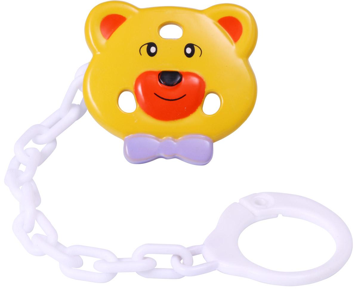 BabyOno Клипса-держатель для пустышки Мишка ночники babyono ночник с колыбельными baby мишка
